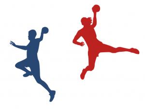 joueur et joueuse handball