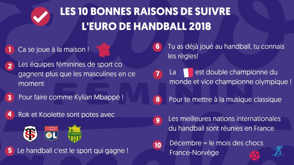 Euro Fem 2018 - les 10 bonnes raisons