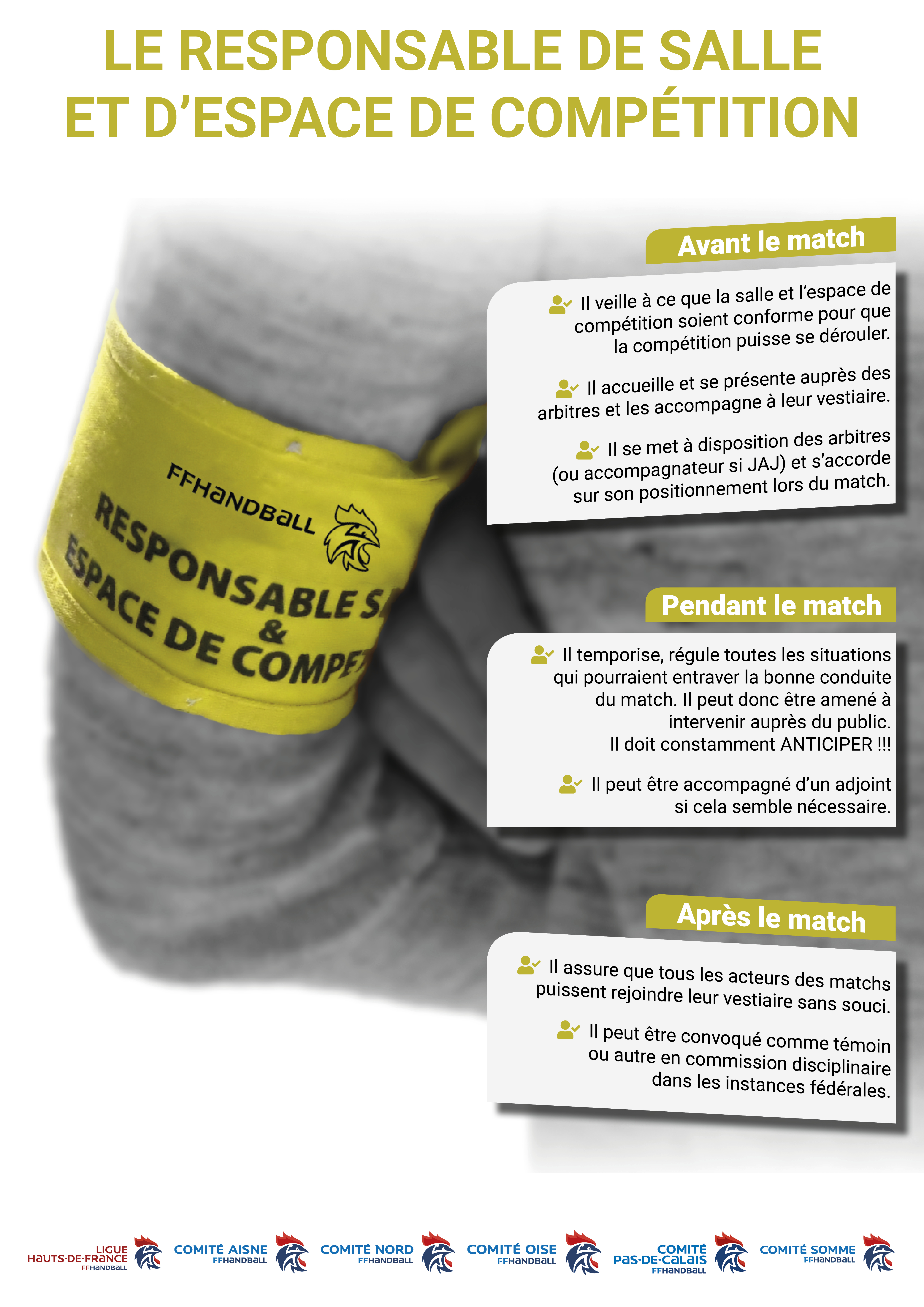 Visuel Responsable de salle brassard jaune