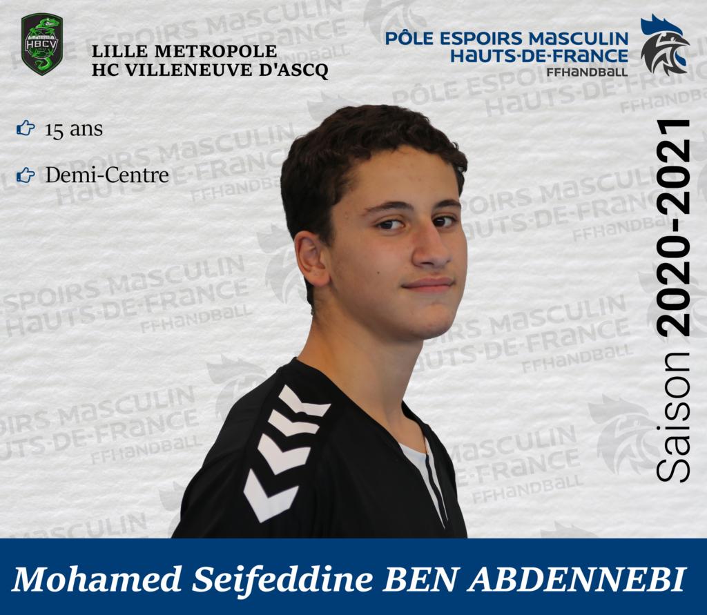 BEN ABDENNEBI Mohamed Seifeddine