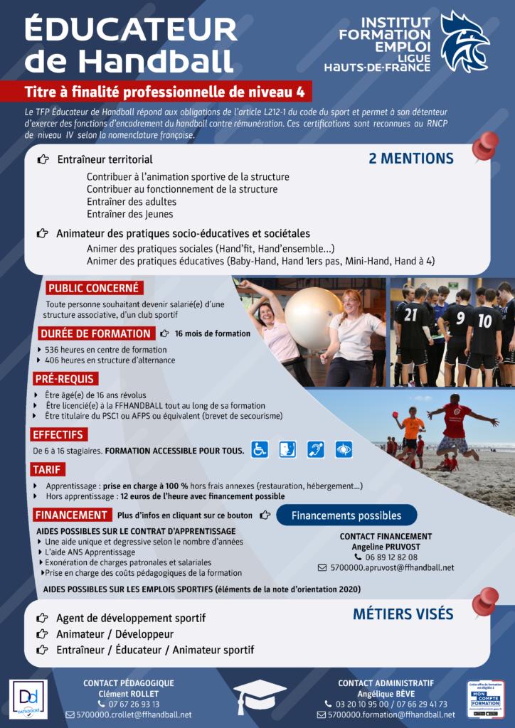 Plaquette Titre 4 Educateur de Handball